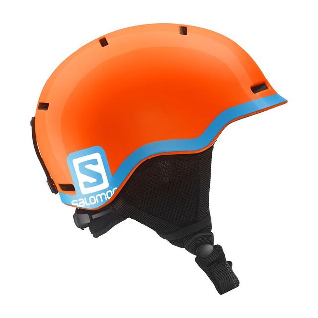 Salomon Grom Helmet Fluo Orange/Blå